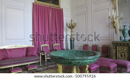 VERSAILLES, FRANCE - FEB 21, 2013 - Interior of The Palace of Versailles, Ch�¢teau de Versailles, or simply Versailles, is a royal ch�¢teau in Versailles in the �?le-de-France
