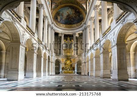 Versailles France JUN 20 Interior Royal Stockfoto (Lizenzfrei ...