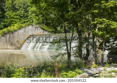 Versailles Lake Dam - stock photo