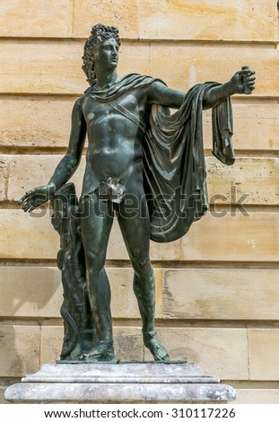 Versailles, Paris sculpture in the garden - stock photo