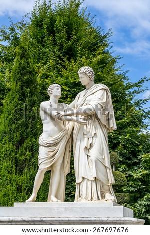 Versailles, Paris-sculptures in the garden - stock photo