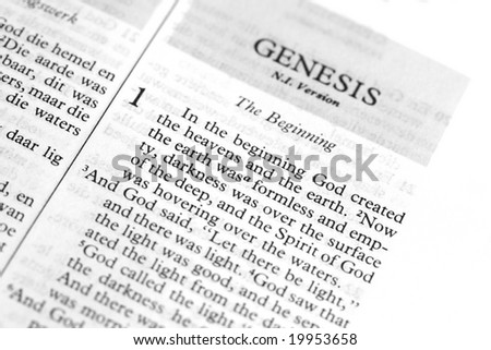 Verse from Genesis in the bible
