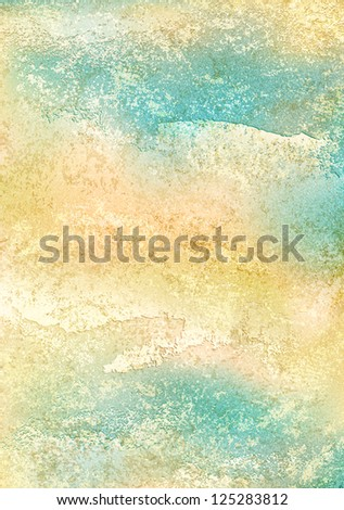 Vertical A4 format vintage background. Blank abstract backdrop with grunge texture cracks, remnants of the paint layer and noise effect. Image for design is a bitmap copy of my vector illustration - stock photo