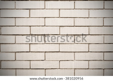 Vertical background of of brick wall. Old style. Sepia - stock photo