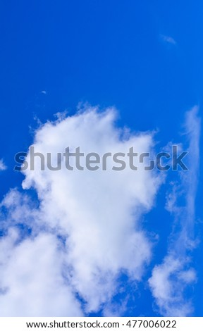 Vertical Blue sky background with white clouds.