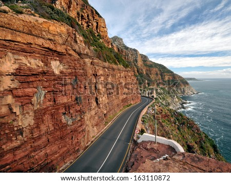 Vertical Drive Chapman's Peak - stock photo