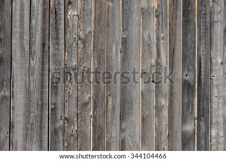 vertical grey aged wooden boards plank background - stock photo