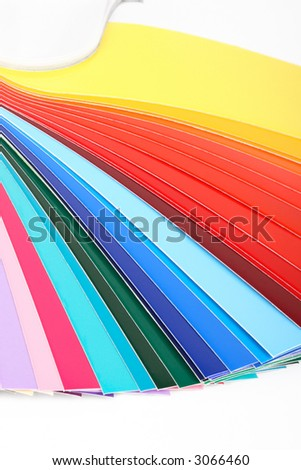 Vertical guide of colours isolated - stock photo