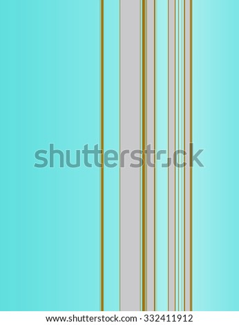 Vertical stripe pattern on cyan colored background - stock photo