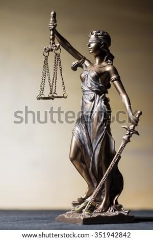 Vertical Themis figure  - stock photo