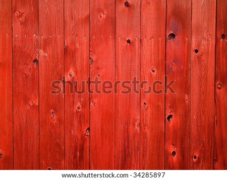 Vertical wooden fence boards for backgrounds or textures - stock photo