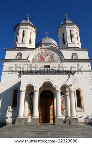 Very beautiful monastery in Dobrogea region, Romania - stock photo