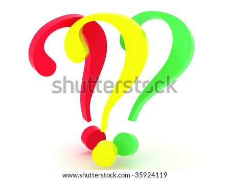 Very beautiful three-dimensional illustration. Questions. 3d - stock photo