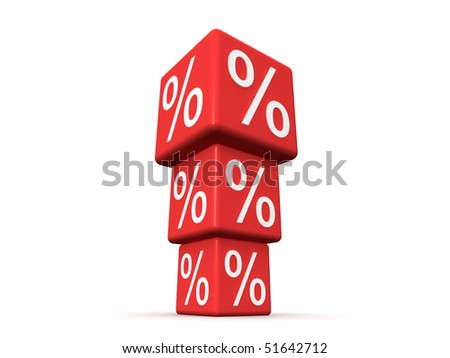 Very Big Percent - stock photo