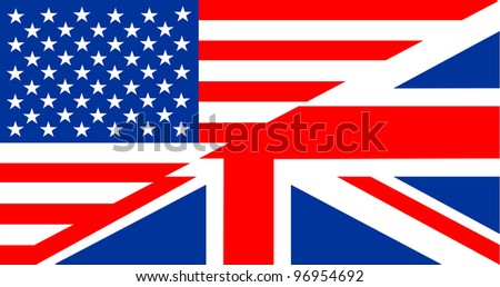 very big size english language flag illustration