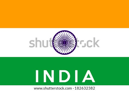 very big size illustration country flag of India