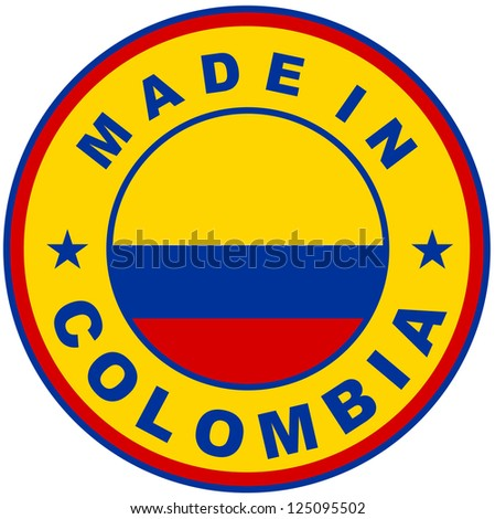 very big size made in colombia country label