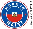 very big size made in haiti country label - stock photo