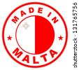 very big size made in malta country label - stock photo
