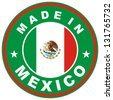 very big size made in mexico country label - stock photo