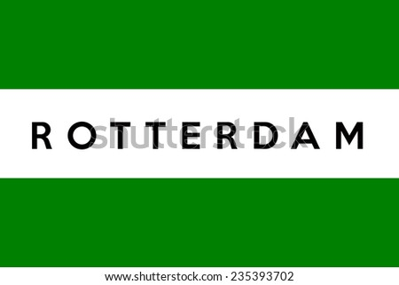 very big size netherlands city rotterdam flag - stock photo