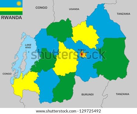 Very Big Size Rwanda Political Map Stock Illustration 129725492