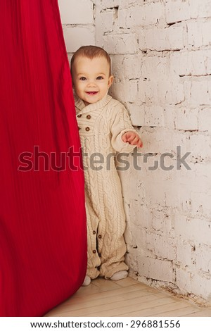 Very cheerful child - stock photo