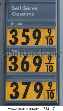 Very expensive gasoline. - stock photo
