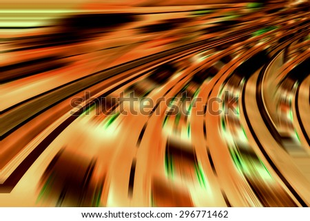 Very fast futuristic cars - stock photo