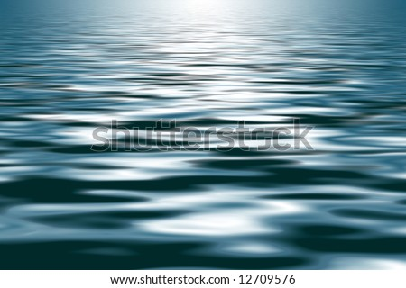 Very gentle soft textured back lit waves - useful as background - stock photo