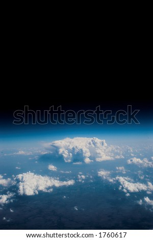 Very high altitude photograph. - stock photo