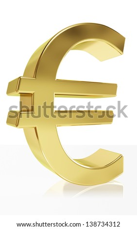 Very high quality rendering (>20h )of the currency symbol