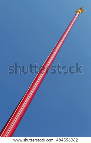 Very High Red Wood Flag Pole