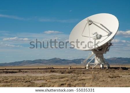 Very Large Array satellite dish antenna - stock photo