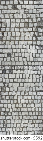 very large stitched cobble stone texture for use in 3d software - stock photo