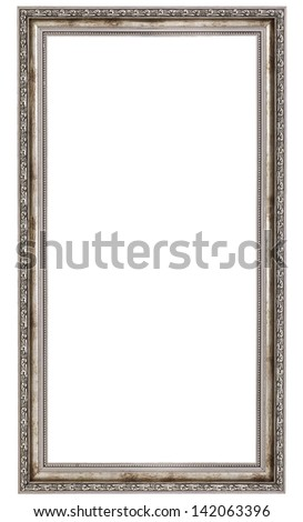 very long wooden frame isolated on white background - stock photo