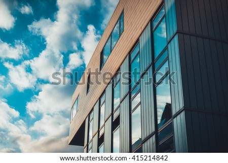 very modern office building with high contrasts
