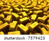 Very much gold - stock photo