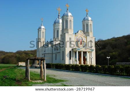 Very nice Saint Andrew monastery, in southern Dobrogea region, Romania - stock photo