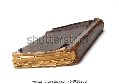 very old book - stock photo