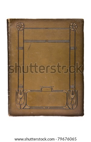 Very old cover book (1880's), isolated on white