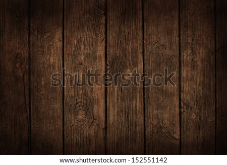 Very old dark wooden background or texture - stock photo