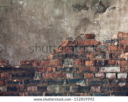 very old grunge wall background or texture