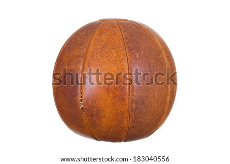 very old medicine ball - stock photo