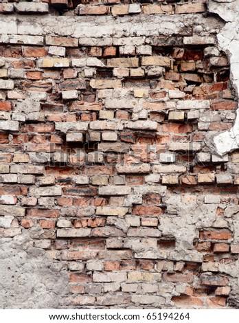 very old ruinous texture - stock photo