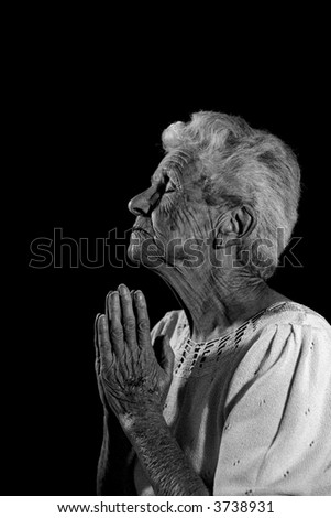 Very Old Woman Praying to the Lord