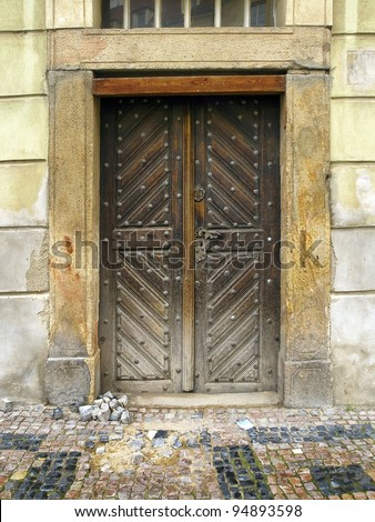 very old wood door