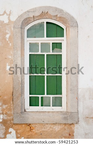 Very old wooden window. - stock photo