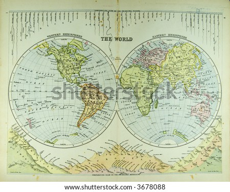 very old world map