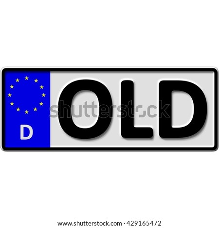 very popular and recently approved optional license plate number for Oldenburg (german city-name), 3D-Illustration - stock photo